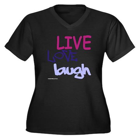 LLL (Purple) Women's Plus Size V-Neck Dark T-Shirt