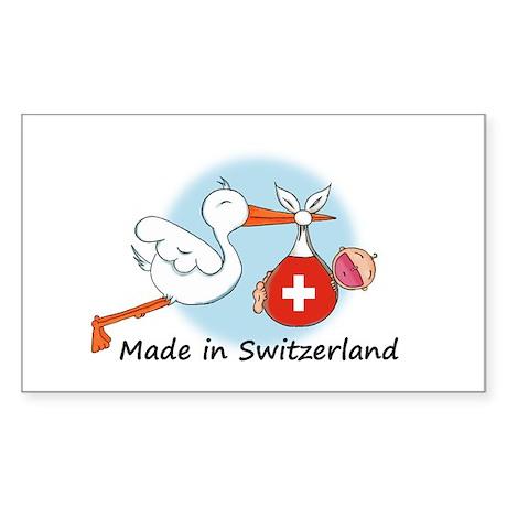 Stork Baby Switzerland Rectangle Sticker