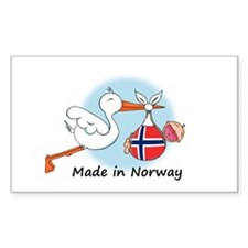 Stork Baby Norway Rectangle Decal
