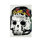 Day of the Dead Skull Rectangle Magnet (100 pack)