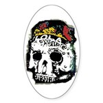 Day of the Dead Skull Oval Sticker