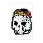 Day of the Dead Skull Rectangle Sticker