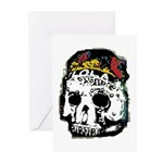 Day of the Dead Skull Greeting Cards (Pk of 10