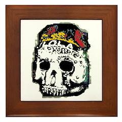 Day of the Dead Skull Framed Tile