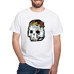 Day of the Dead Skull White T-Shirt