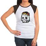 Day of the Dead Skull Women's Cap Sleeve T-Shirt