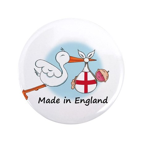 "Stork Baby England 3.5"" Button"