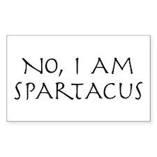 No, I Am Spartacus Rectangle Decal