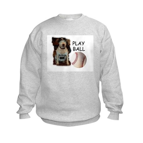 BASEBALL ROCKS (PIT BULL) Kids Sweatshirt