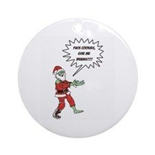 Zombie X-Mas Ornament (Round)