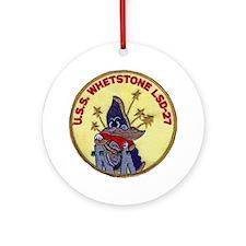 USS WHETSTONE Ornament (Round)