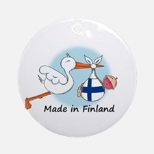Stork Baby Finland Ornament (Round)