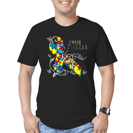 I Wear A Puzzle for my Son Men's Fitted T-Shirt (d