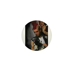 Hairdresser Mohawk & Dog Mini Button (100 pack)