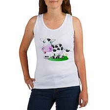 Cute Cow Milk Women's Tank Top