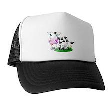 Cute Cow Milk Trucker Hat