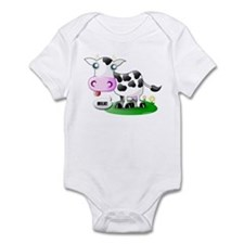 Cute Cow Milk Infant Bodysuit