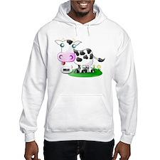Cute Cow Milk Hoodie