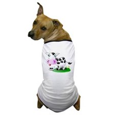 Cute Cow Milk Dog T-Shirt