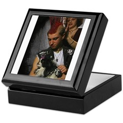 Hairdresser Mohawk & Dog Keepsake Box