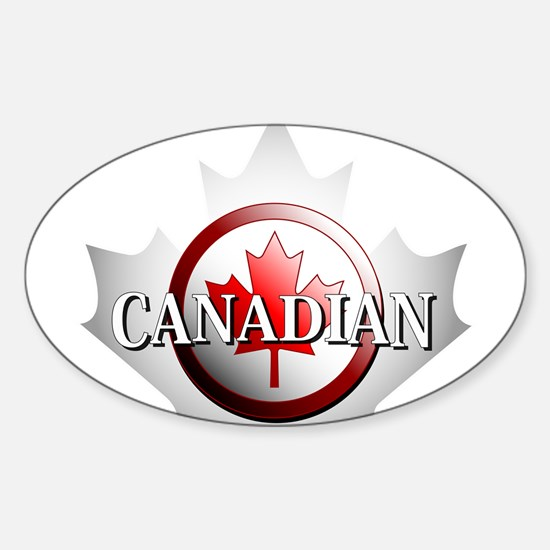 I be Canadian Oval Decal