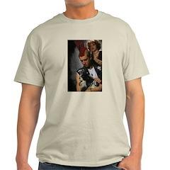 Hairdresser Mohawk & Dog Ash Grey T-Shirt