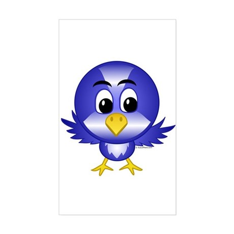 Bobby The Bluebird Rectangle Sticker