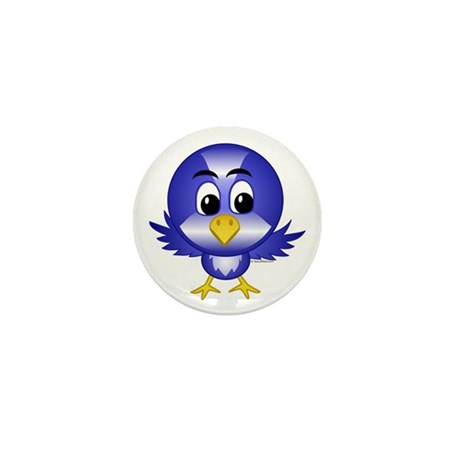 Bobby The Bluebird Mini Button (10 pack)