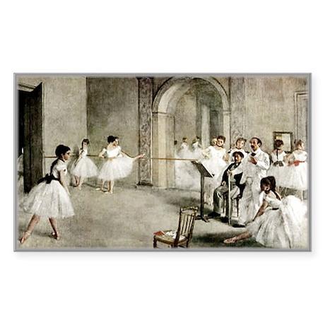 Ballet Practice Rectangle Sticker