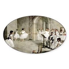 Ballet Practice Oval Decal