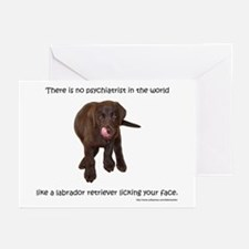 Lab Puppy Kisses Greeting Cards (Pk of 10)