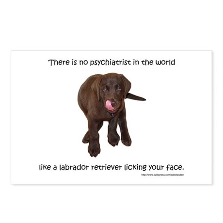 Lab Puppy Kisses Postcards (Package of 8)