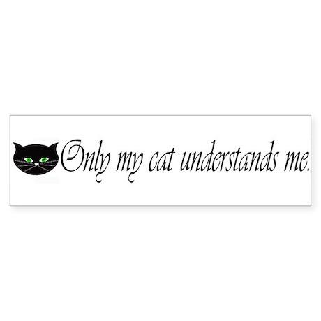 Only my cat understands me. Bumper Sticker