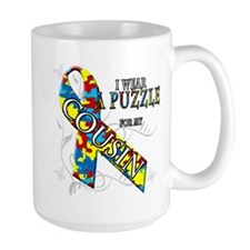 I Wear A Puzzle for my Cousin Mug