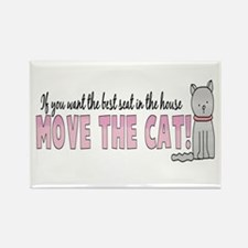 Move The Cat Rectangle Magnet