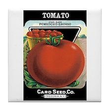 Vintage Tomato Tile Coaster