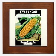 Vintage Sweet Corn Framed Tile