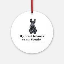 My Scottie Heart Ornament (Round)
