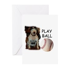 BASEBALL ROCKS (PIT BULL) Greeting Cards (Package