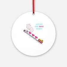 ~Love Train Design 002~ Ornament (Round)