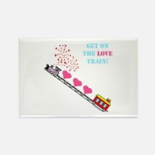 ~Love Train Design 002~ Rectangle Magnet