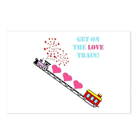~Love Train Design 002~ Postcards (Package of 8)