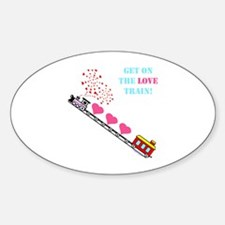 ~Love Train Design 002~ Oval Decal