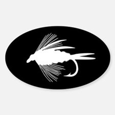 WHITE FLY Oval Decal