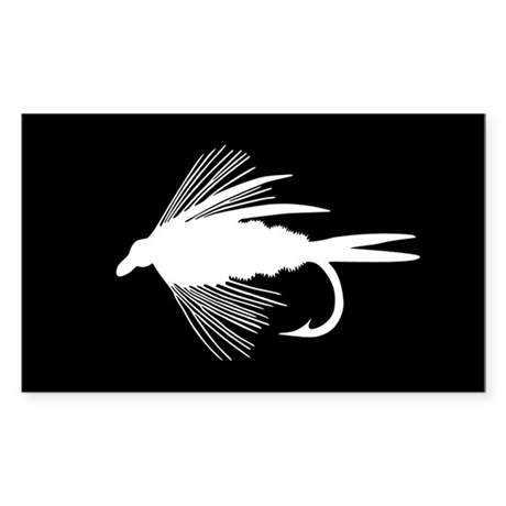 WHITE FLY Rectangle Sticker