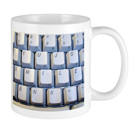 smile keyboard Mugs
