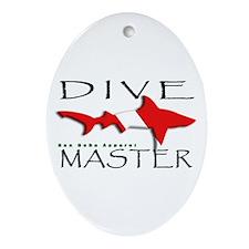 Dive Master Oval Ornament