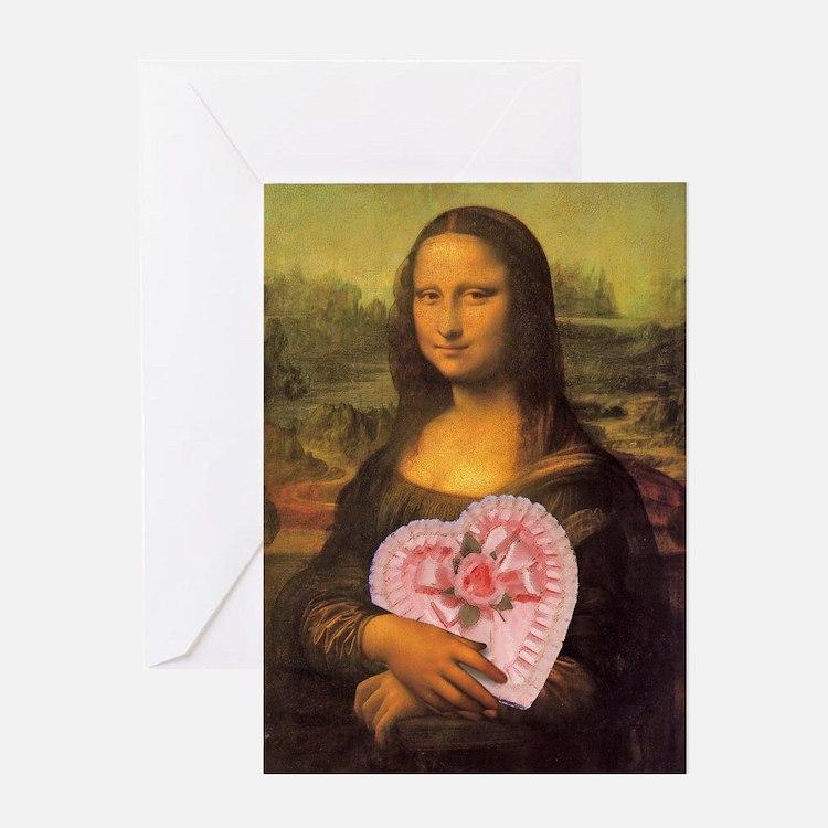 Mona Lisa's Secret Greeting Card