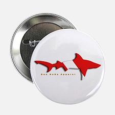 """Shark Diving Flag 2.25"""" Button"""