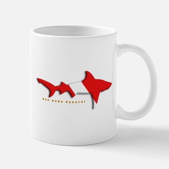 Shark Diving Flag Mug